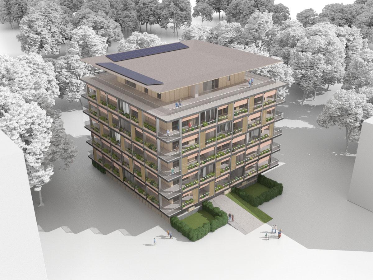 Composya - Progettazione palazzo residenziale con tecnologia X-LAM - React Studio
